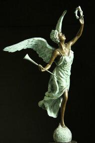 【送料無料】超大型ブロンズ像◇名声の天使◇■ピエールBiard■61cm