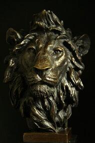 大型重量ブロンズ◇像『ライオン』◇32cm◇大名品barye作