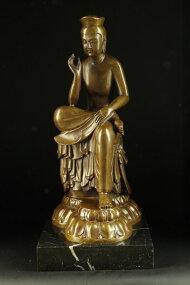 ブロンズ仏教美術弥勒菩薩半跏思惟像◇広隆寺の宝冠弥勒