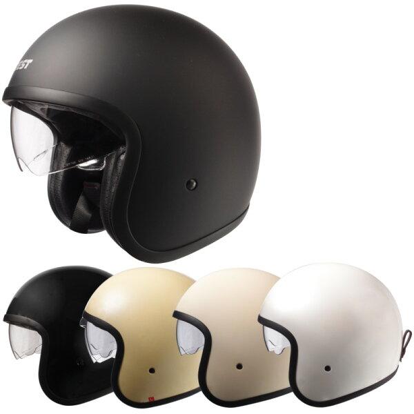 今だけマスクプレゼント  ジェットヘルメット/スタイリッシュインナーバイザー付きパイロットヘルメットSG/PSCマーク付きクロ