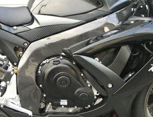 GSX-R600(08年~)フレームヒートガード左右セット平織カーボンA-TECH(エーテック)