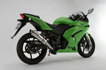 Ninja250R(09年~12年)R-EVOステンレスポリッシュスリップオンマフラー政府認証BMS-R(ビームス)