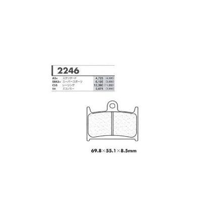 ブレーキ, ブレーキパッド SBK5 CARBONE LORRAINE FZR750RR(OW01) 89
