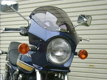 ゼファー400(ZEPHYR)89~95年マスカロードクリアスクリーンエボニー(金ライン)H8通常スクリーンCHICDESIGN(シックデザイン)