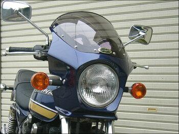 ゼファー400(ZEPHYR)89~95年マスカロードスモークスクリーンメタリックダークブロンズ(1Z)エアロスクリーンCHICDESIGN(シックデザイン)