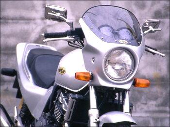 CB400SF・Ver.S(92~98年)ロードコメットクリアスクリーンスパークリングシルバーメタリック(NH-295M)エアロスクリーンCHICDESIGN(シックデザイン)