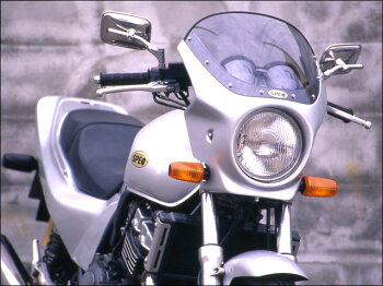 CB400SF・Ver.S(92~98年)ロードコメットクリアスクリーングラニットブルーメタリック(PB-184)エアロスクリーンCHICDESIGN(シックデザイン)