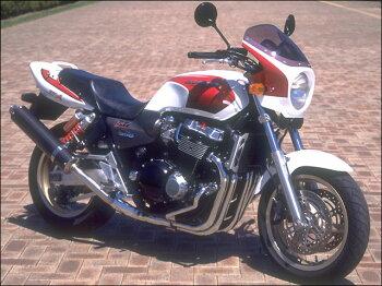 CB1300SF(98~02年)ロードコメットクリアスクリーンキャンディフェニックスブルー(PB-284C)エアロスクリーンCHICDESIGN(シックデザイン)