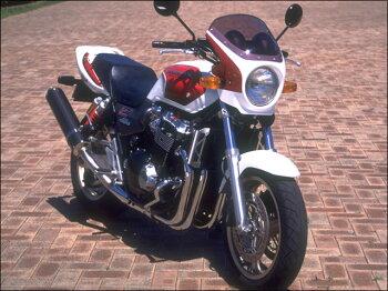 CB1300SF(98~02年)ロードコメットクリアスクリーンキャンディブレイズオレンジ(YR-196C)エアロスクリーンCHICDESIGN(シックデザイン)