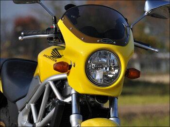 VTR(09年~)ロードコメットクリアスクリーングラファイトブラック(NH-B01)エアロスクリーンCHICDESIGN(シックデザイン)