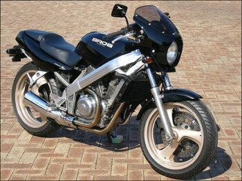 ブロス400・650(BROS)88~91年ロードコメット2クリアスクリーンキャンディーブルゴーニュレッド(R107CU)エアロスクリーンシックデザイン