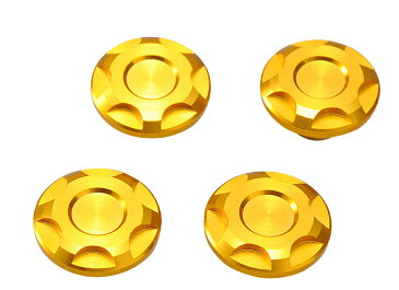 PREMIUM ZONEシリーズ ドレスアップボルトキャップ M8ボルト用 4個入り ゴールド DAYTONA(デイトナ)