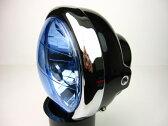 モンキー(MONKEY)5Lモンキーフォーク用 マルチリフレクターレンズ ヘッドライト ブルーセット ブラック MINIMOTO(ミニモト)