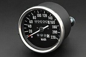 500SS・KH500(H1)スピードメーターブラックボディPMC(ピーエムシー)
