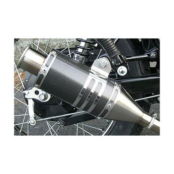 RSYビューティーショートカーボンマフラーRSヨコタ(RSYOKOTA)エストレヤ/RS/カスタム/RSカスタム(BJ250A・キャブ車)送料無料