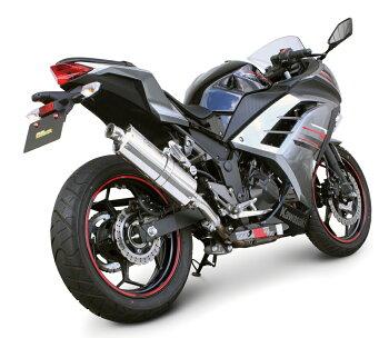 Ninja250(ニンジャ)EX250L-A00049~パワーサイレントオーバルマフラー(政府認証マフラー)SP武川(TAKEGAWA)