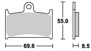 ブレーキ, ブレーキパッド FZR750R OW0189 624RS SBS