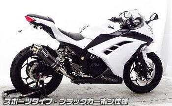 Ninja250(ニンジャ)JBK-EX250Lスリップオンマフラースポーツタイプブラックカーボンウイルズウィン(WirusWin)