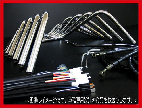 XJR400 アップハンドル -94 セミしぼりアップハンドル セット BK アップハン バーテックス XJR400 ...