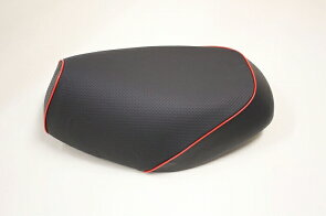 グロンドマンGH14HC80P40グロンドマン国産シートカバーエンボス黒/赤パイピング張替リトルカブシートカバーリトルカブグロンドマンGH14HC80P40