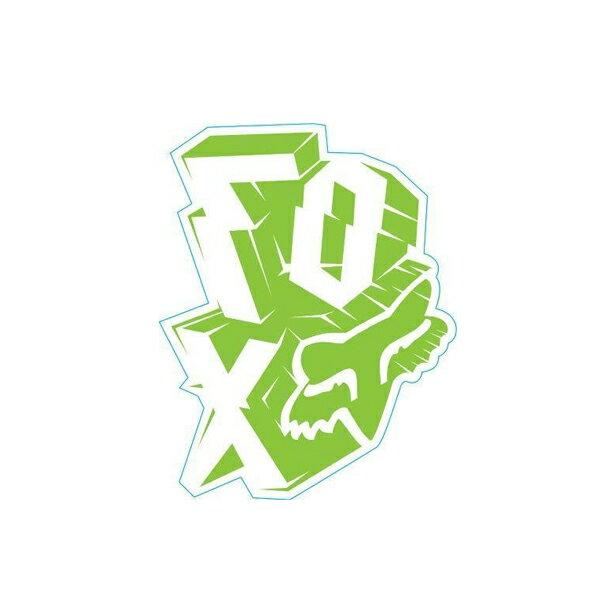 FOX フォックス 14481-323-000 ステッカー Outta Whack アウッタワック ビビッドグリーン 12cm ダートフリーク画像