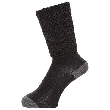 MIZUNO ミズノ C2JX7802 ゆるぬくゴム無し靴下 かかとシリコン付 ブレスサーモ レディース チャコール フリーサイズ/22cm-24cm