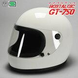 GT750 ヘルメット 族ヘル ホワイト ノスタルジック GT-750 今だけ!!送料無料!!族ヘル ビンテージ ヘルメット GT750 族ヘル フルフェイス ノスタルジック GT-750