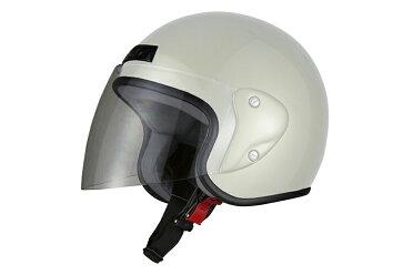 ジェットヘルメットホワイトフリーサイズ(57-60cm)【バイク用ジェッペル原付・スクーター・小型・中型用オープン】【SG規格適合PSCマーク付】HELMETCOLLECTION