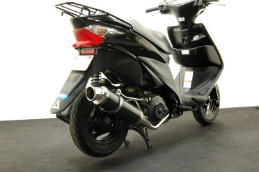 【送料無料】アドレスV125/G/S【CF4EA/CF4MA】カスタムカーボンマフラー【社外】【アドV】『バイクパーツセンター』