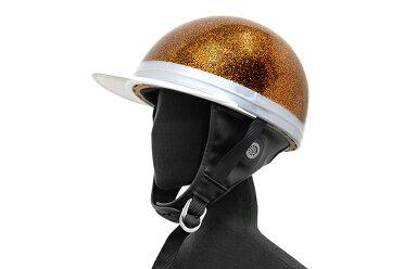 コルク半キャップ黒金【ゴールドラメ】【黒金ラメ】【三つボタン】【フリーサイズ】【124cc以下】【SG規格適合PSCマーク付】【3つボタン】【バイク】【オートバイ】【ヘルメット】【半帽】バイクパーツセンター