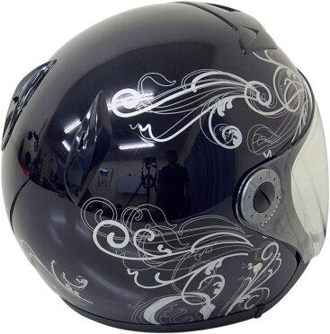 ジェットヘルメットグラフィックブラックXL【バイク用ジェッペル原付・スクーター・小型・中型用オープン】【SG規格適合PSCマーク付】『バイクパーツセンター』