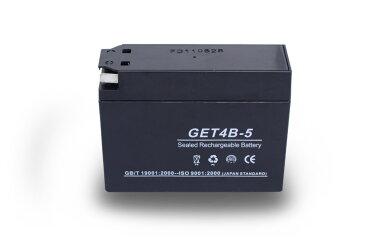 最安値挑戦中!安心の1年間保証♪ジェルバッテリーGET4B-5(GT4B-5互換)保証書付『バイクパーツセンター』
