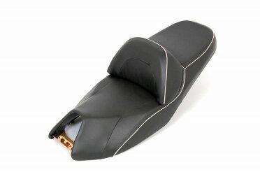 マジェスティ4HC用ベース付シート(シート本体)黒・白ライン入り『バイクパーツセンター』