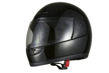 ヘルメットフルフェイスブラック【バイク用原付・スクーター・小型・中型用】【SG規格適合PSCマーク付】『バイクパーツセンター』