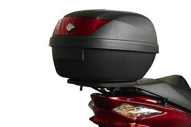 リアボックス容量28LTYPE-Aブラック【バイク用ベース付きヘルメット入れトップケース】『バイクパーツセンター』