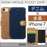 ZENUS/Denim/Vintage/Pocket/Diary/iPhone6������
