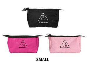 3CE 3CONCEPT EYES スタイルナンダ ポーチ(スモール)ブラック/ピンク/ピンクルーマー 韓国コスメ  STYLENANDA 3CE POUCH ORIGINAL