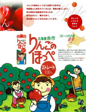 北海道余市 ストレート100% りんごのほっぺ4本入り