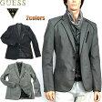 GUESS(ゲス)テーラードジャケット メンズ グレー黒 XXL 大きいサイズも入荷!