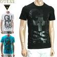 GUESS(ゲス) でかロゴTシャツ メンズ 白黒青