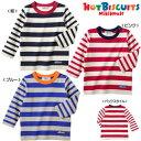 サンクスプライス☆ MIKIHOUSE Hot Biscuits ボーダー☆長袖Tシャツ:100cm,110cm :71-5251-957