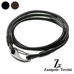 zanipolo terzini (ザニポロタルツィーニ) 2重巻き ダブル レザー ブレスレット メンズ 本革 アクセサリー