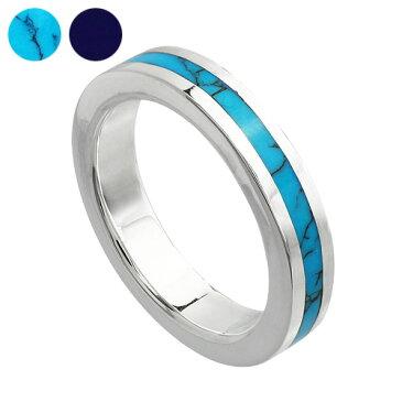 【刻印可能】センターラインリング ターコイズ ラピスラズリ [シルバーリング] 指輪 天然石 メンズリング ペアリング トルコ石