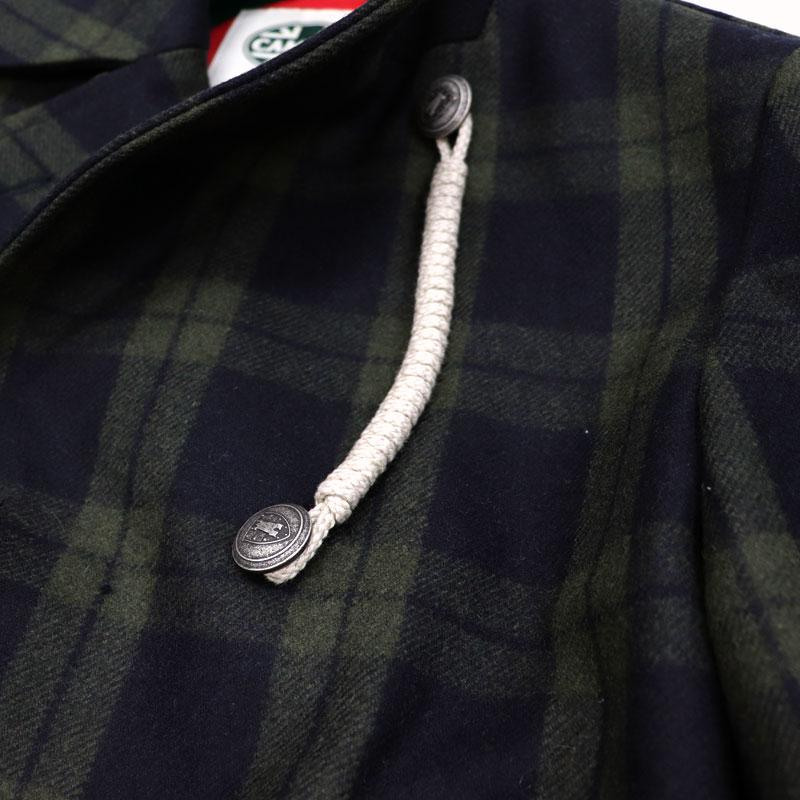 CAMPLIN ≪カンプリン≫ イタリアブランド ピーコート メンズ 秋冬 Pコート 中綿ハーフコート ピージャケット ≪チェック ダブルコート≫88000WMR