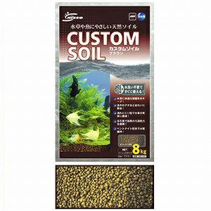 ニッソー カスタムソイル ブラウン 8kg NBS-262天然底床土。水草の育成や魚のことを考えて...