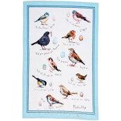 英国直輸入☆小鳥のリネンティータオル【BirdSong】byULSTERWEAVERS