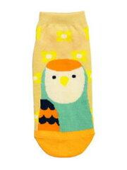 9995248【KOTORITACHI】鳥顔靴下/コザクラインコ・シーグリーン×ベージュ COL 015◆クロネコDM...