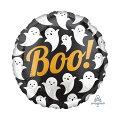 ハロウィン17インチBooゴースト14L【バルーン・風船】ハロウィーンおばけオバケハロウィン装飾