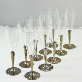 プラスチック製シャンパングラス