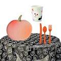 【ハロウィンテーブルウエアセット】パンプキンおばけかぼちゃガイコツペーパープレートペーパーカップ紙皿紙コップカトラリーホームパーティーお家でハロウィンリモートハロウィンハロウィーン